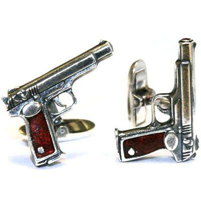"""Cufflinks """"Gun"""""""
